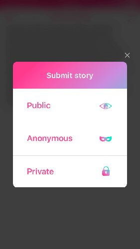 Choose your stories privacy